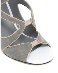 Asos Asos Hazard Heeled Sandals In Gray Lyst