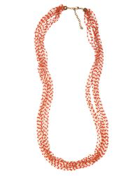 BaubleBar - Metallic Coral Bead Layer - Lyst
