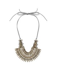 TOPSHOP - Metallic Warrior Collar Necklace - Lyst