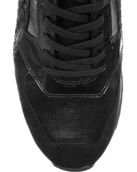 Alexander Wang - Black Dillon Paneled Perch And Suede Sneakers - Lyst