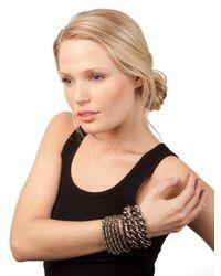 BaubleBar - Metallic Hematite Link Bracelet - Lyst