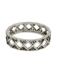 BaubleBar | Metallic Silver Criss Bangle | Lyst