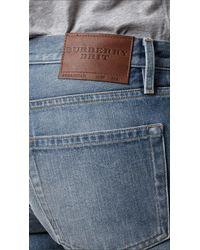 Burberry | Blue Steadman Vintage Stonewash Slim Fit Jeans for Men | Lyst