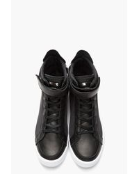 Adidas SLVR Black Hightop Textile and Leather Cupsole Sneakers for men