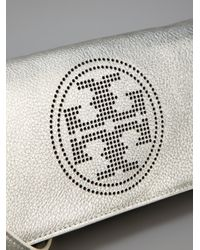 Tory Burch | Chunky Metallic Straw Tote Bag Silver | Lyst