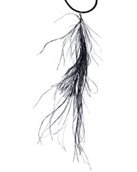 MM6 by Maison Martin Margiela Black Feather Necklace
