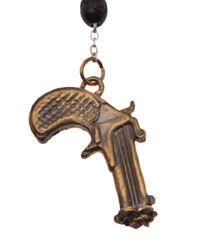 Alkemie - Metallic Peace Gun Rosary Necklace - Lyst