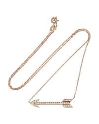 Anita Ko | Metallic Arrow 18karat Rose Gold Diamond Necklace | Lyst