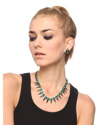 BaubleBar - Gray Emerald Spike Strand - Lyst