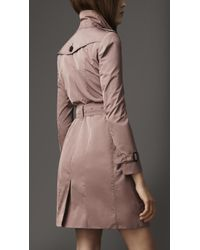 Burberry | Natural Long Taffeta Twill Trench Coat | Lyst