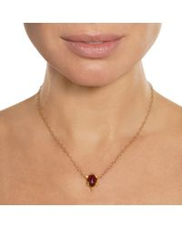 Cathy Waterman - Metallic Garnet Framed Pendant Necklace - Lyst