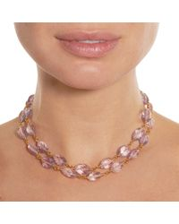 Cathy Waterman - Pink Amethyst Wire Wrapped Necklace - Lyst