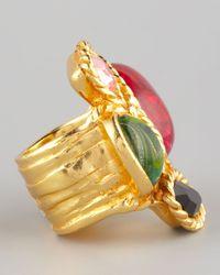 Saint Laurent - Multicolor Four Stone Arty Ring - Lyst