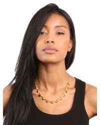 BaubleBar | Metallic Gold Cone Necklace | Lyst