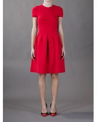 Valentino   Red Aline Dress   Lyst