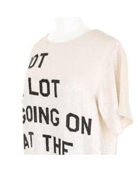 Ashish   Sequin-Embroidered Slogan T-Shirt   Lyst