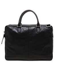 Balenciaga | Black Grained Leather Document Bag for Men | Lyst