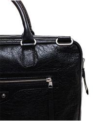 Balenciaga | Black Grained Leather Document Bag for Men | Lyst