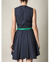 Boy by Band of Outsiders   Blue Leather Trim Dress   Lyst