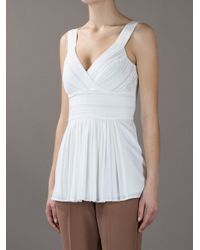 Burberry | White Pleated Top | Lyst