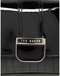 Ted Baker - Black Skapari Patent Crossbody Bag - Lyst