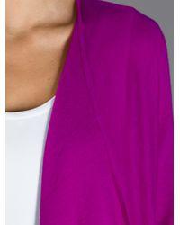 Tory Burch | Purple Open Front Cardigan | Lyst