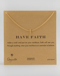 Dogeared | Metallic Integrated Upright Cross Pendant Necklace Gold | Lyst