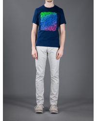 KENZO - Blue Printed T Shirt for Men - Lyst