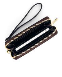 MICHAEL Michael Kors - Brown Multifunction Logo Phone Case - Lyst