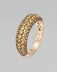 John Hardy - Metallic Gold Classic Chain Yellow Sapphire Slim Dome Ring - Lyst