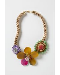 Anthropologie | Pink Floret Rope Necklace | Lyst