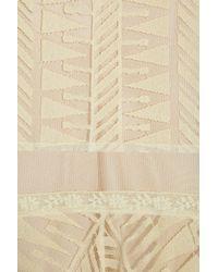 Philosophy di Alberta Ferretti   Beige Lace and Cotton-tulle Dress   Lyst