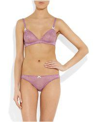 Stella McCartney - Purple Gwyneth Gazing Lace Briefs - Lyst
