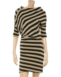 Vivienne Westwood Anglomania | Black Arianna Striped Linenblend Dress | Lyst