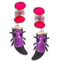 ASOS - Multicolor Jewel Beetle Earrings - Lyst