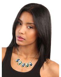 BaubleBar - Metallic Jeweled Teardrop Necklace - Lyst