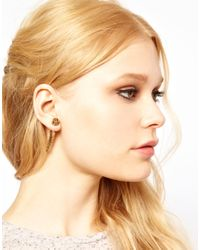 River Island | Metallic Tribal Engraved Spike Earring | Lyst