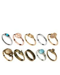 River Island - Multicolor Blogger Ring Pack - Lyst