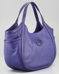 Tory Burch - Purple Hannah Pocket Hobo Bag  - Lyst