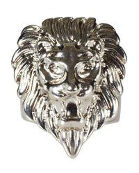 ASOS - Metallic Lion Head Signet Ring for Men - Lyst