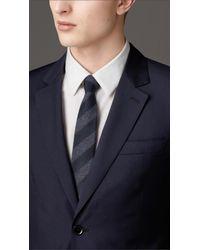Burberry - Blue Classic Fit Virgin Wool Suit for Men - Lyst