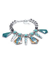 Zara | Blue Turquoise Tribal Lacquered Necklace | Lyst