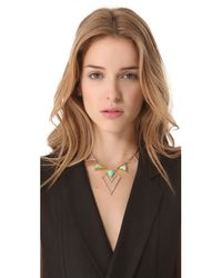 Alexis Bittar - Metallic New Wave Shield Necklace - Lyst