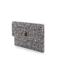 Anya Hindmarch - Metallic Valorie Glitter Clutch - Lyst