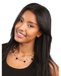 BaubleBar - Black Jet Geo Necklace - Lyst