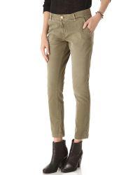 Current/Elliott - Green The Buddy Trouser Pants - Lyst