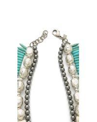DANNIJO - Metallic Malawi Necklace - Lyst