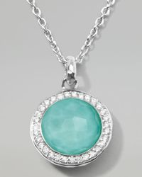 Ippolita - Metallic Stella Lollipop Pendant Necklace In Turquoise Doublet With Diamonds - Lyst