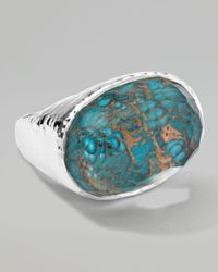 Ippolita | Blue Wonderland Silver Turquoise Oval Ring | Lyst