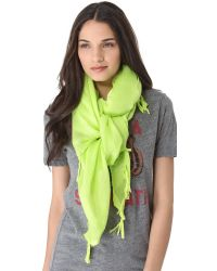 Love Quotes | Green Knotted Tassel Scarf | Lyst
